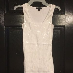 Express sequin top. White M